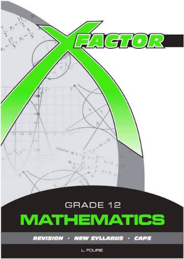 Picture of X-Factor Mathematics G12 Study Guide 9780992202699