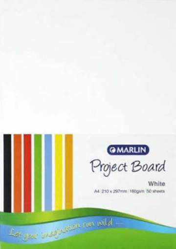 Picture of Project  Board A4 160gsm White (50 Sheets)